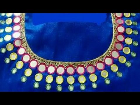 unique mirror work blouses - YouTube