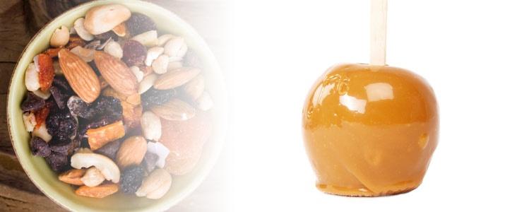 Trail Mix Caramel Apples