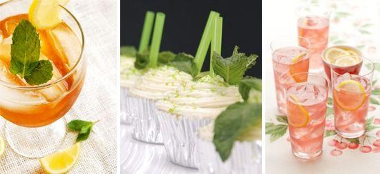 Southern Belle Wedding Traditions ✈ Drinks: Tea, Mint Julep Cupcakes, Cherry Lemonade