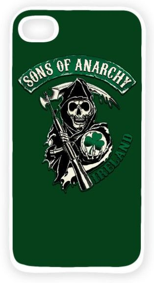 """Sons of Anarchy Ireland""""WHITE"""" Back Cover Case For iPhone 5/5S - Bottle Green"""