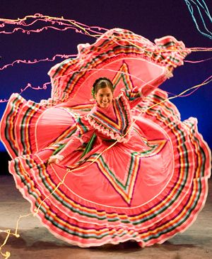 A colorful display of Latin American dance