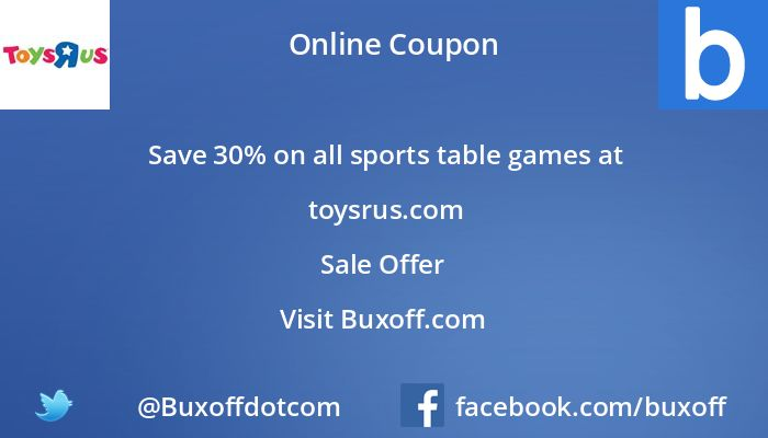 Latest toys-r-us Coupon on Buxoff Visit to know more