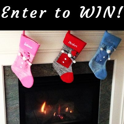#Win a set of 4 Sock Monkey Christmas Stockings!  Our Sock Monkey Stockings have been so popular this year, they are already sold out!  Enter our Christmas Stocking #Giveaway for your chance to win the last set we have. #Contest ends Dec 13th.