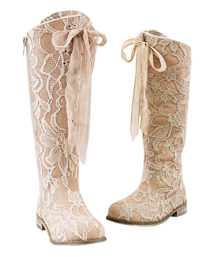Look at this Rose Lacey Boot & Hair Clip - Kids on #zulily today!