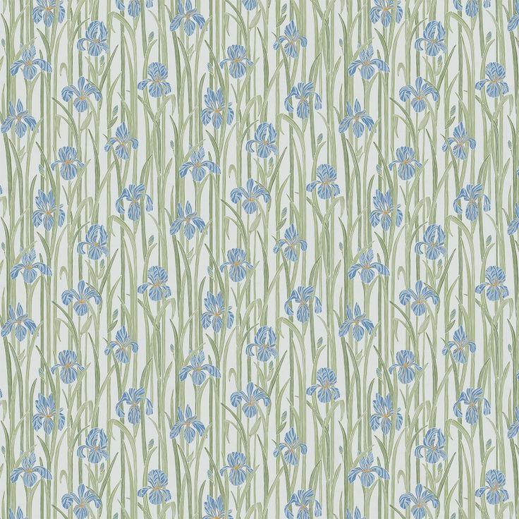Andra stora bilden på tapetern Iris Blå