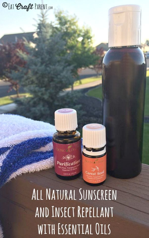 All Natural Sunscreen and Insect Repellant with Essential Oils - EAT.CRAFT.PARENT