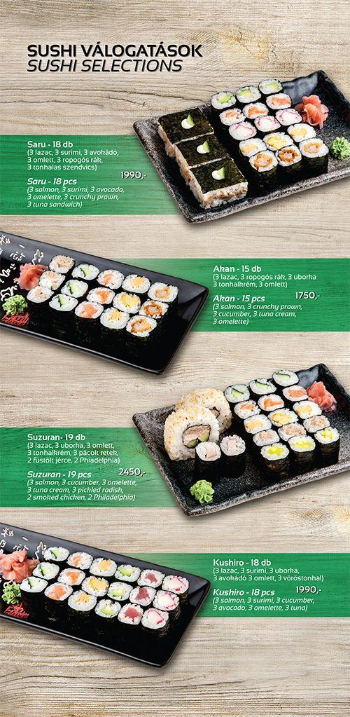 Wokzilla étlap, sushi házhoz szállítás