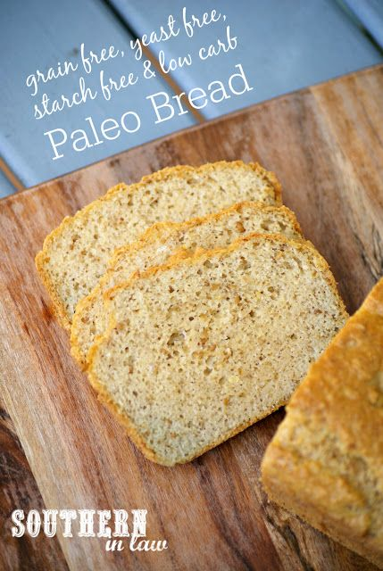 Yeast Free Paleo Bread Recipe - gluten free, low carb, grain free, yeast free, starch free, paleo