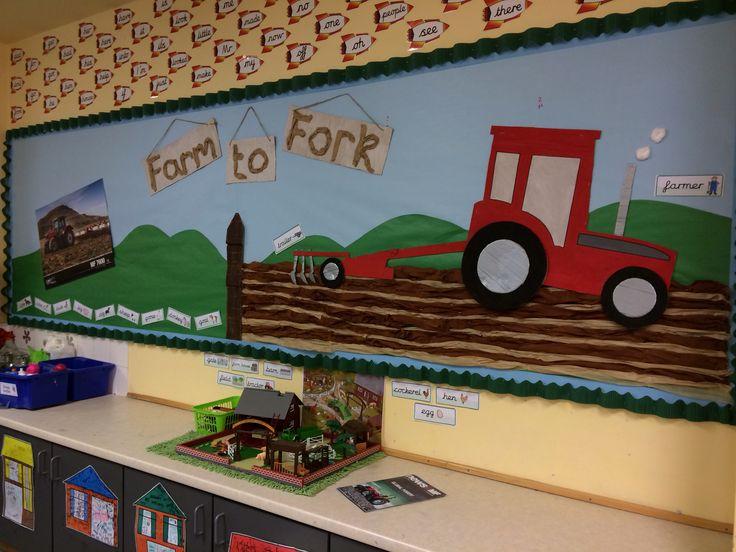 Farm to fork display classroom displays school displays