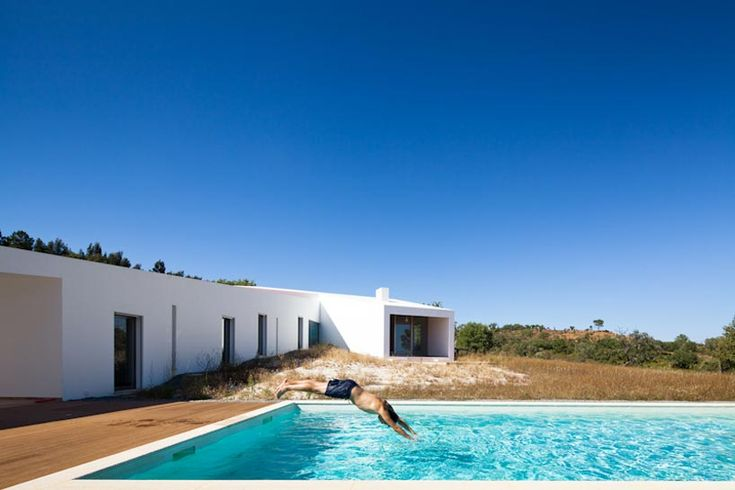 vitor vilhena: house in odemira, portugal. View from pool