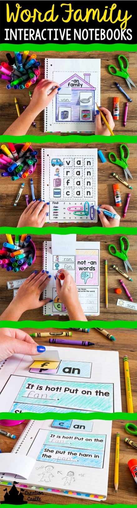 Infuse new life into your word work with these interactive notebooks that strengthen your students word family skills!