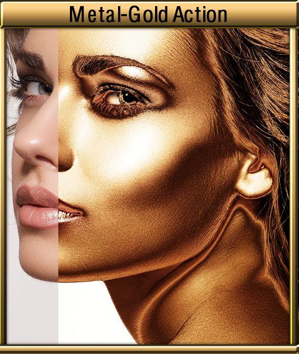 GraficAction   Metal Gold Photoshop Action