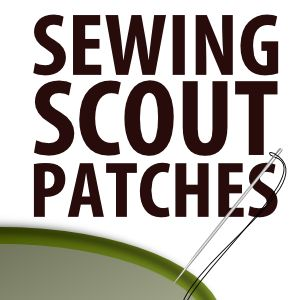 patches - links for official insignia docs and suggestions for sewing by hand, sewing by machine, and ironing on