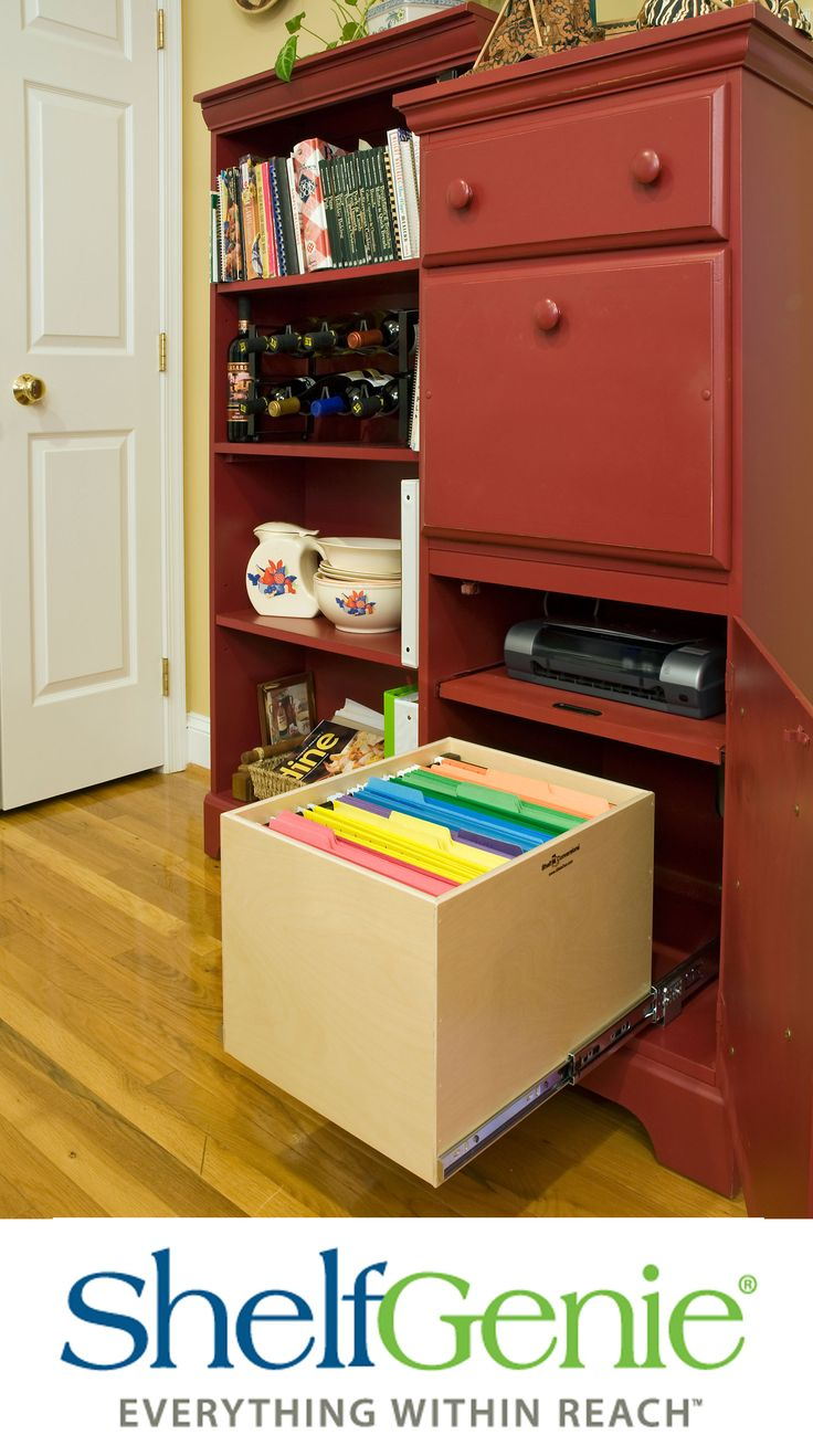 Upgrade Your Home Office And Organize Paperwork With Shelfgenie S Gliding File Bo