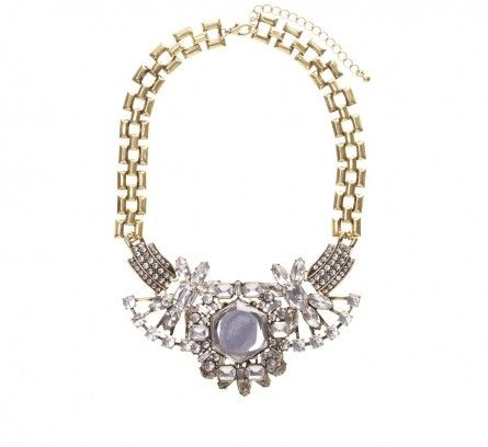 Gold Crystal and Diamante Vintage Collar Necklace LOVISA AUD $39.99