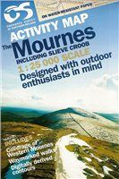 OS Northern Ireland Mourne Map 1:25 000 Laminated