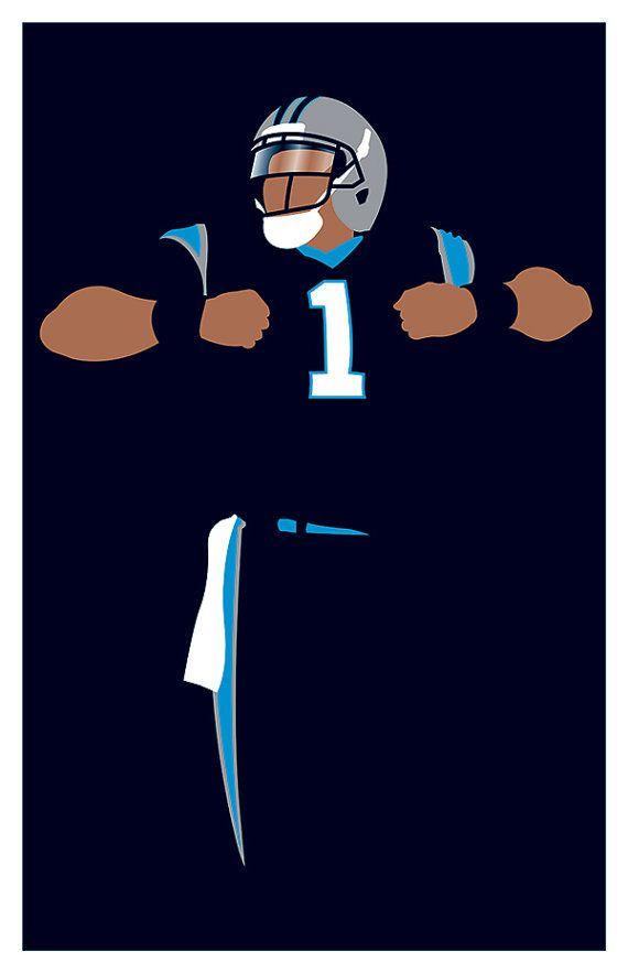 Carolina Panthers Cam Newton 'Superman' by headfuzzbygrimboid