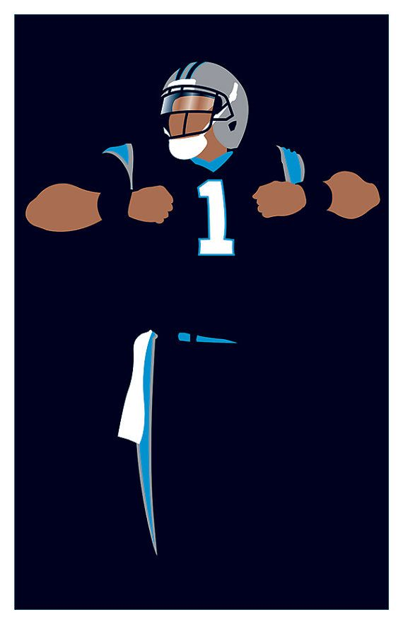 Carolina Panthers Cam Newton 'Superman' by headfuzzbygrimboid