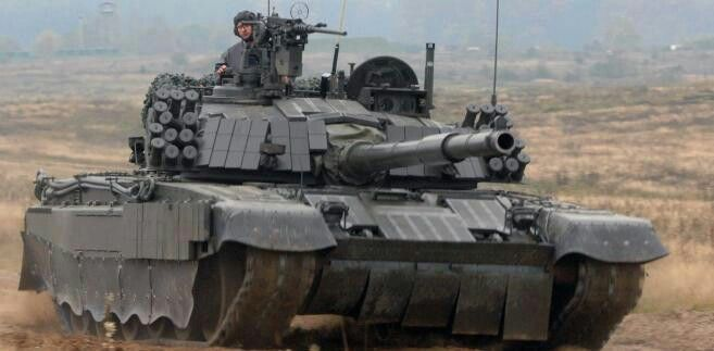 """Polish MBT PT91 Twardy. A modified Russian design.  Added Comment : """" Modelled off from T-72"""
