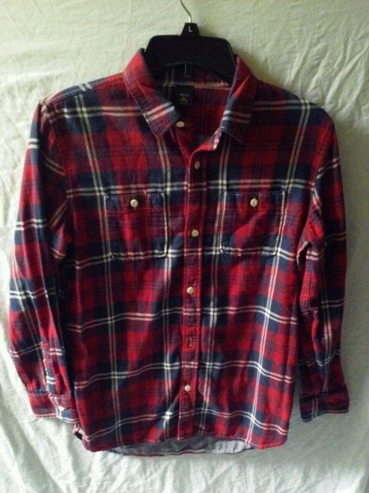 Gap Kids Boy 100% Cotton Long Sleeve Plaid Red Blue Shirt Size XXL 14-16 | Clothing, Shoes & Accessories, Kids' Clothing, Shoes & Accs, Boys' Clothing (Sizes 4 & Up) | eBay!