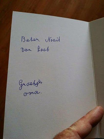 Van je familie moet je het hebben... #taalvout  (Met dank aan Peter Vink en een lieve groet aan zijn oma!)