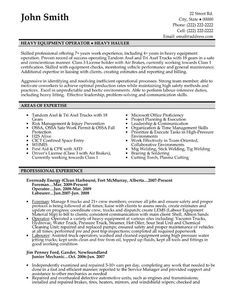 Click Here to Download this Heavy Equipment Operator Resume Template! http://www.resumetemplates101.com/Trades%20-resume-templates/Template-90/