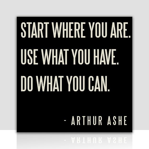 start where you are. use what you have. do what you can. #quote #words #inspiration