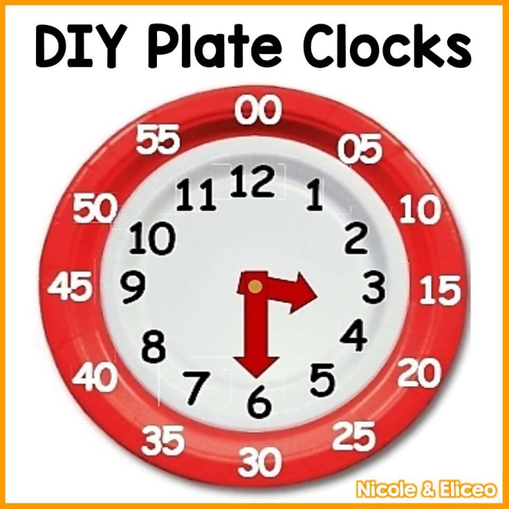 DIY plate clocks for teaching how to tell time