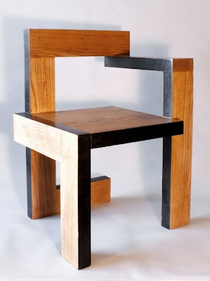 gerrit rietveld steltman chair on chairs pinterest stuhl m bel und holz. Black Bedroom Furniture Sets. Home Design Ideas