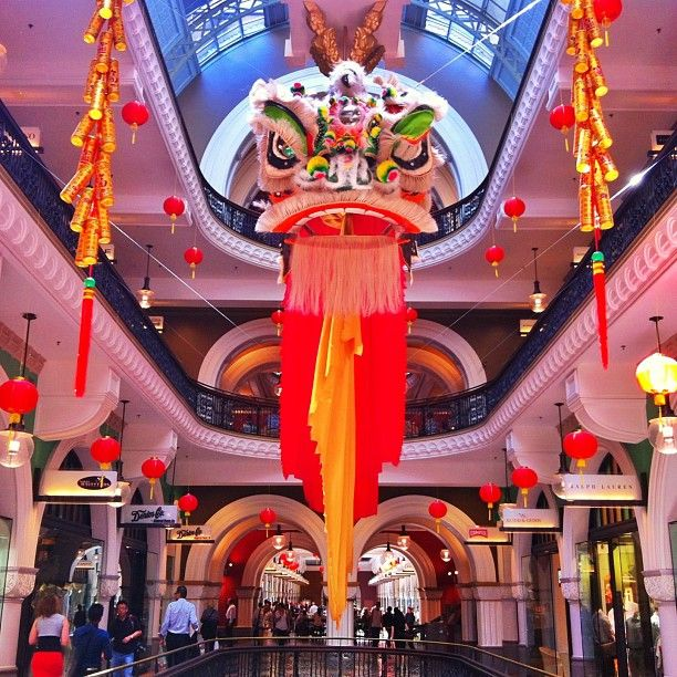 Christmas Decorations Shops Sydney: Chinese New Year Decorations In The Queen Victoria