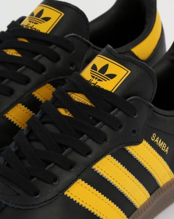 16f5c67d1c548 Adidas Samba OG Trainers Black Bold Gold