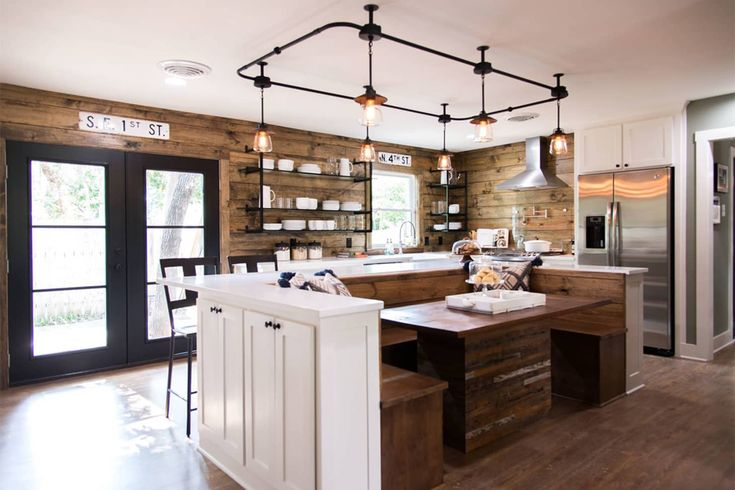 over table lighting in 2020  fixer upper kitchen kitchen