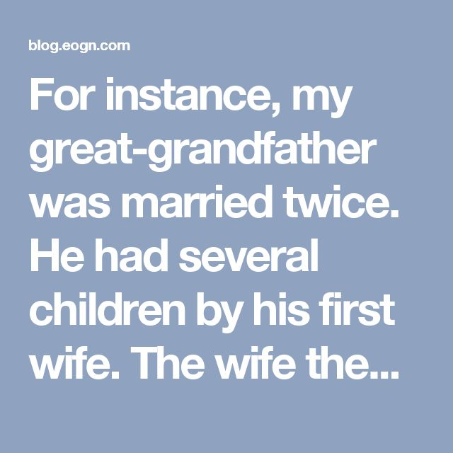 "For instance, my great-grandfather was married twice. He had several children by his first wife. The wife then died in childbirth, and great-grandfather later remarried and had more children by his second wife. I am descended from great-grandfather and his first wife. I recently met a man who is descended from my great-grandfather and his second wife. Some people would think that this other man and I are half-second cousins. ""Half"" apparently refers to the fact that we share only half the…"