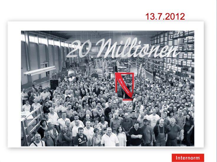 20.000.000 di finestre prodotte !!!! #Internorm