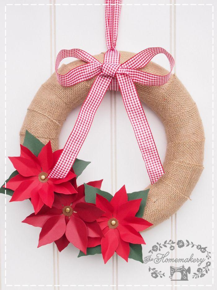 DIY Country Christmas Hessian Wreath - The Homemakery Blog