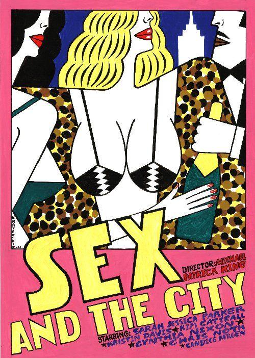 Sex & the City, Polish poster - Andrzej Krajewski