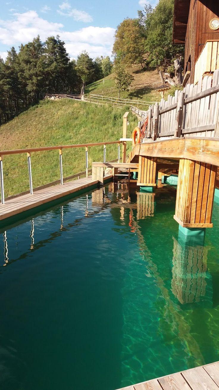 Nuova biopiscina nei pressi di Bolzano al Brentwaldhof di Carnedo. www.luther.it