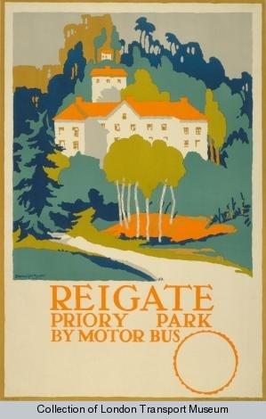 Reigate Priory Park, by Edward McKnight Kauffer, 1920, London Transport Museum