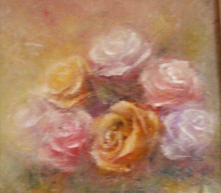 ROSES oil painting on canvas (50/50) 500 EURO