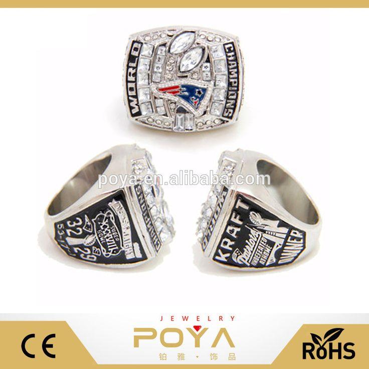 POYA Jewelry Replic New England Patriots Super Bowl Ring , 2001, 2003, 2004, 2014, 2016, Rings