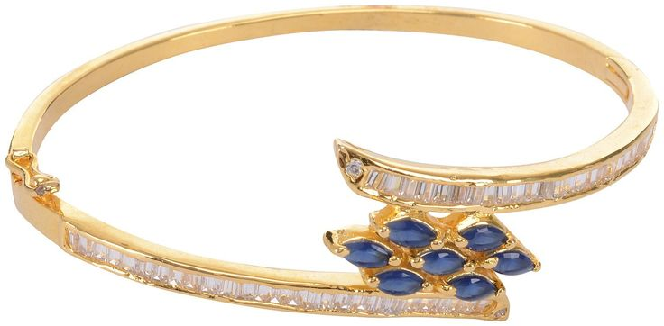 Buy Gold Plated blue stone studded Bracelets for Women Online at Low Prices in India | Amazon Jewellery Store - Amazon.in