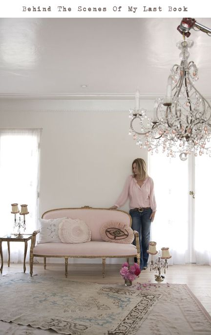 shabby chic -- like the layered rug look