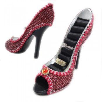 Giyim Aksesuar : Ayakkabı Tasarımlı Yüzük Askısı Shoe Ring Holder