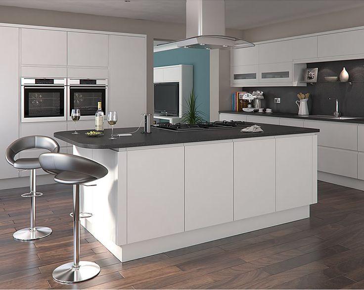 Luca matt white kitchens buy luca matt white kitchen for Cheap kitchen unit doors
