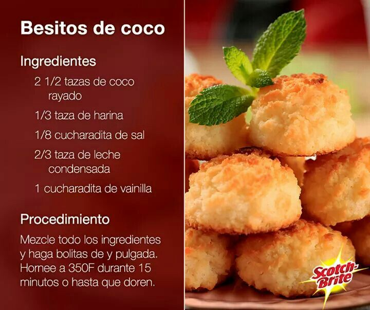 Besitos de cocotero