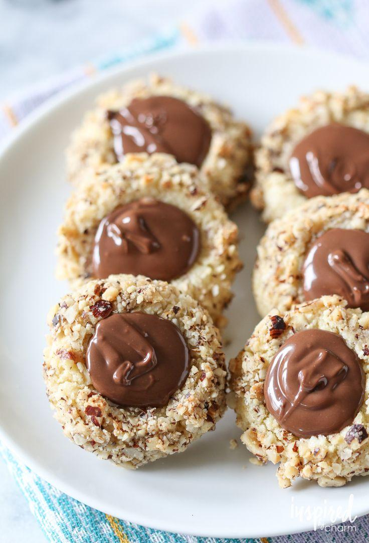 Nutella Thumbprints | inspiredbycharm.com #IBCfallcookieweek