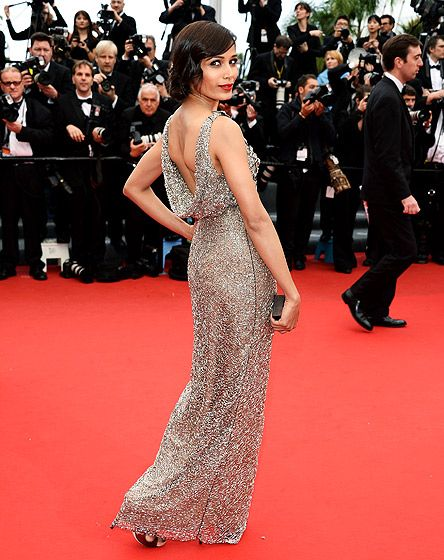 Frieda Pinto attended the premiere of her latest film, Jeune & Jolie