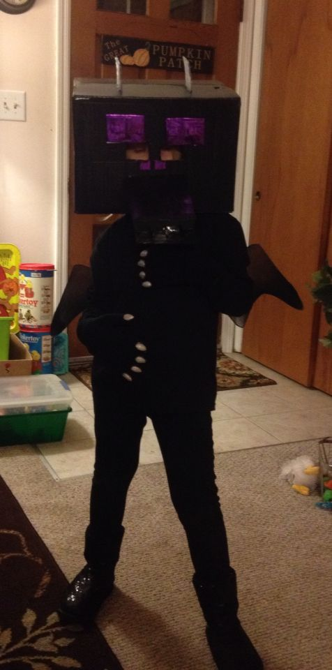 Minecraft ender dragon costume!!! | Holiday stuff ...