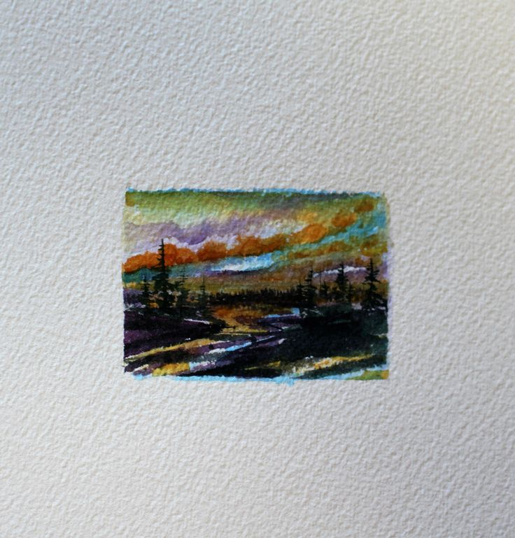 "1.5"" x 2.38"" Matted, including shipping/ Miniature Watercolour"