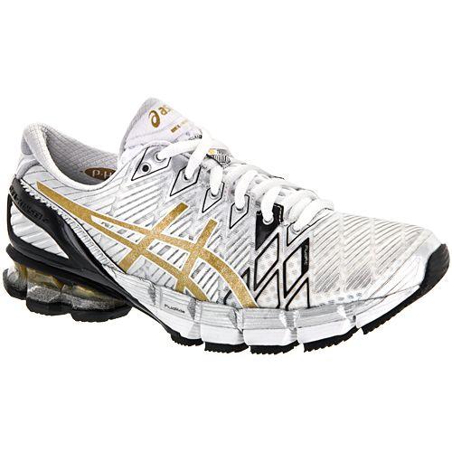 asics gel kinsei 5 asics womens running shoes whitegoldsilver